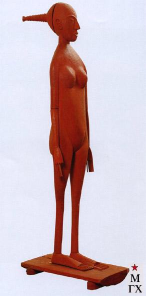 Н.Е. Ватагин. Красная обнаженная. 1992. Дерево, тон. 145 см.
