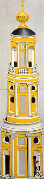 Н.Е. Ватагин. Колокольня. 2001. Х.М. 200х50.