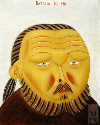 Н.Е. Ватагин. Портрет художника  В. Севастьянова. 1996. Х.М. 45х40.