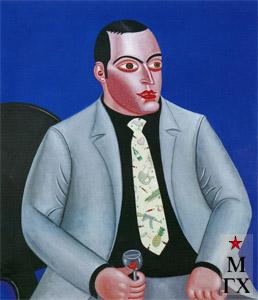 Н.Е. Ватагин. Портрет. 2002. Х.М. 100х100.