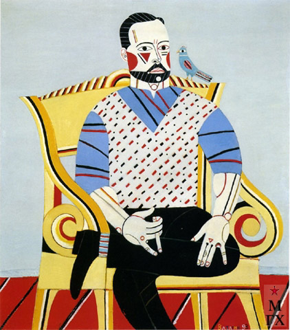 Н.Е. Ватагин. Портрет. 2002. Х.М. 100х90.