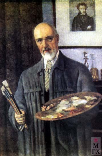 К. Ф. Юон, Автопортрет, 1953. Х.М.