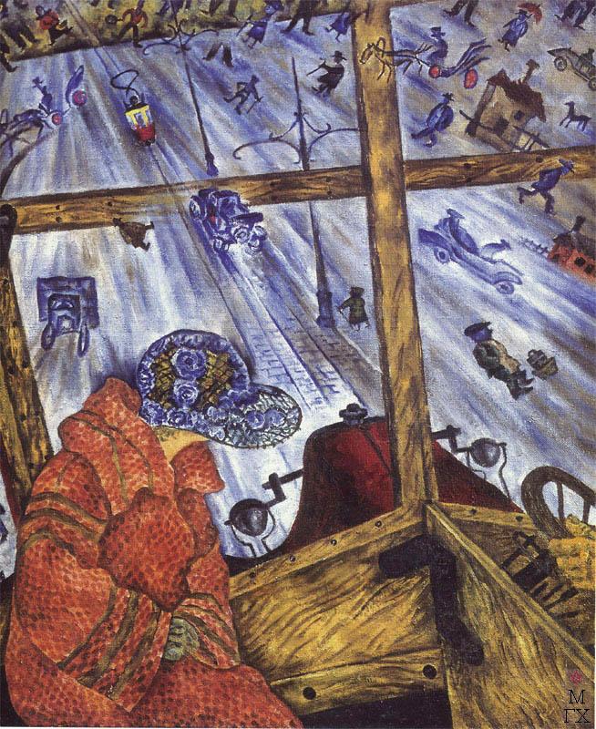 Земенков  Б. С. Новая Москва.1929. Х.М.61.7х53.7