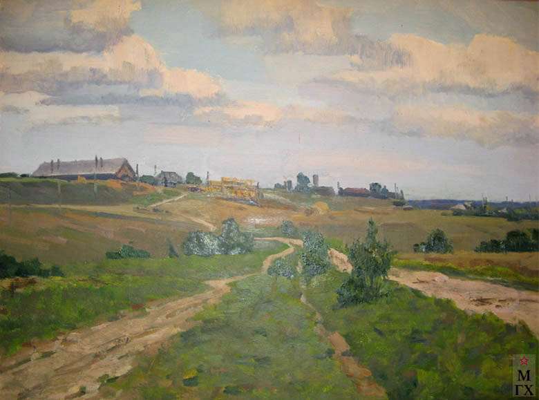Л.Н. Земсков. Картина : Дорога в поле.